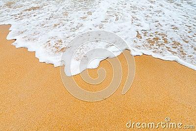 Sand clean beach background