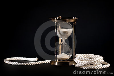 Sand clock and rope