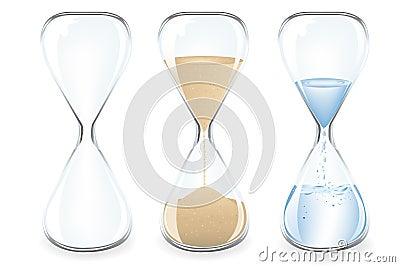 Sand Clocks. Vector