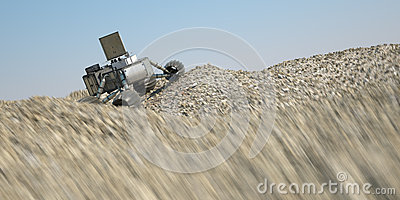 into the sand 3d illustration
