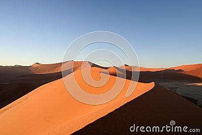 Sand Dunes at Dusk
