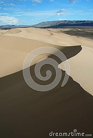 Sand dunes in gobi desert