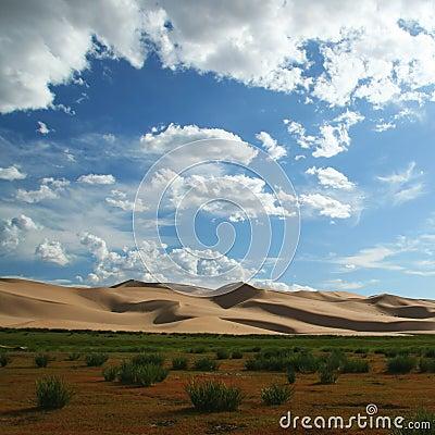Free Sand Dunes In Gobi Desert In Mongolia Royalty Free Stock Photography - 16894687