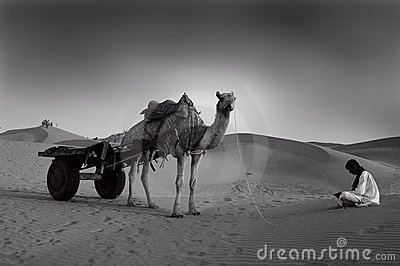 Sand dunes in Rajasthan Editorial Image