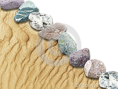 Sand dunes, rocks in a limited background