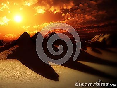 Sand Dunes With Sun 4