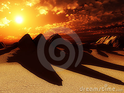 Sand Dunes With Sun 6
