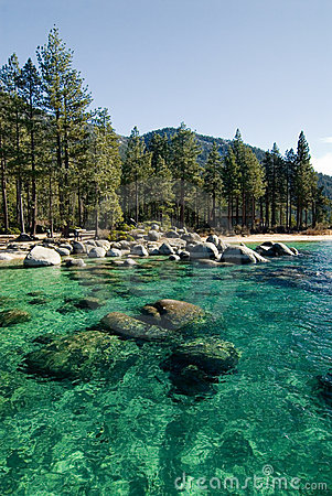 Sand harbor clear waters