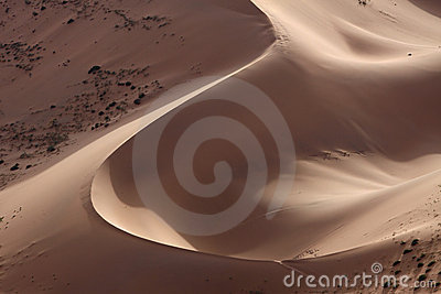 Sand hill in desert
