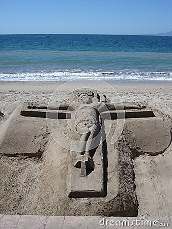 Sand Jesus