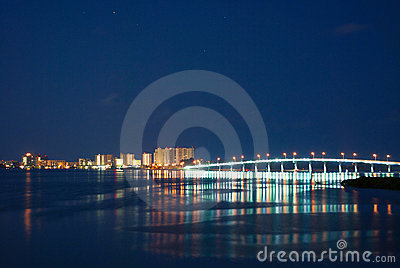 Sand Key Bridge at Night