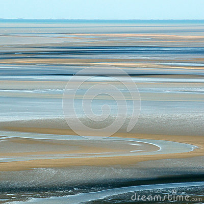 Sand at low tide