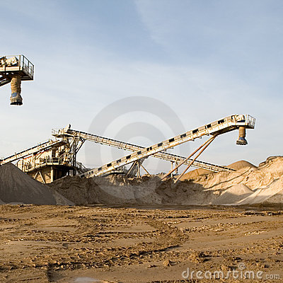 Free Sand Production Machinery Royalty Free Stock Photography - 8888767