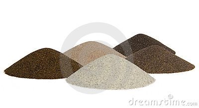 Sand s cones - minerals of mining industry