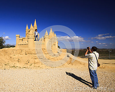 Sand Sculpture Editorial Image