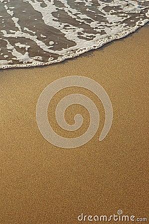 Sand and sea foam