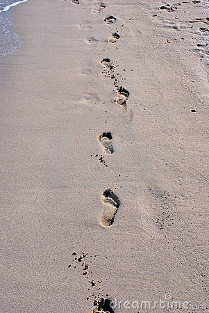 Sand Step Marks Royalty Free Stock Images Image 8467189