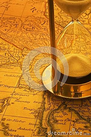 Sand Timer and Map Burma