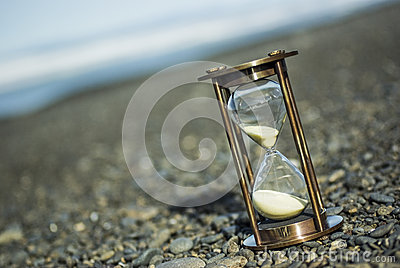 Sand Timer on Pebble Beach