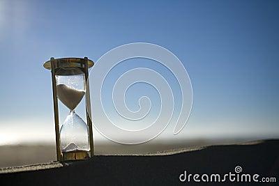 Sand Timer on a Sand Dune