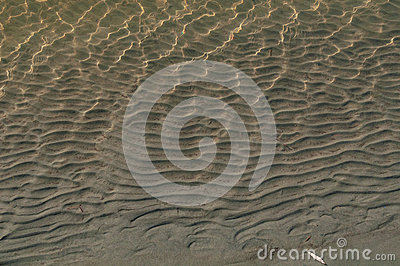 Sand water waves