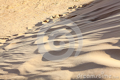 Sand waves in Sahara desert