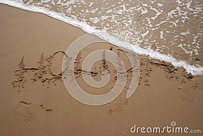 Sand writing - HOLIDAY 2