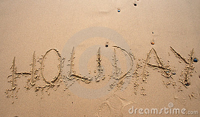 Sand writing - Holoday