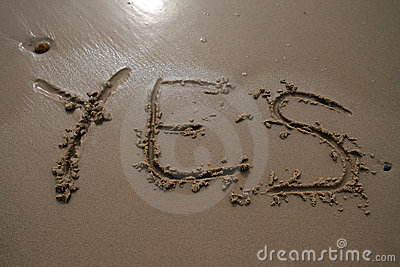 Sand writing - Yes