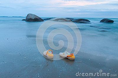 Sandal on beach