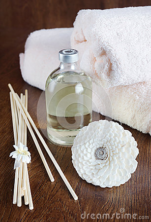 Sandal oil and sticks for aromatherapy