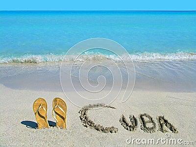 Sandali sulla spiaggia a varadero cuba immagini stock for Disegni di casa sulla spiaggia tropicale