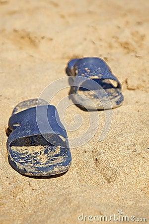 Sandals at beach