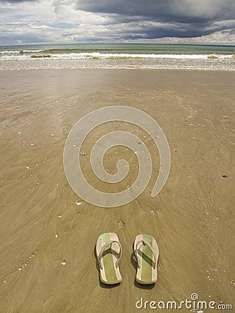 Free Sandals On Beach Stock Photo - 2979550