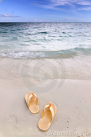 Free Sandals On The Beach Royalty Free Stock Photo - 11087855