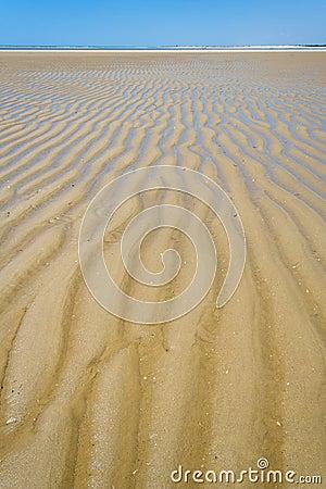 Sandbank at low tide