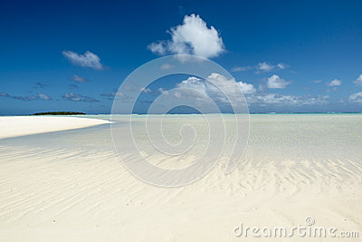 Sandbar in the Southern Pacific Ocean