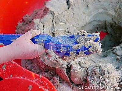 Sandbox child playing