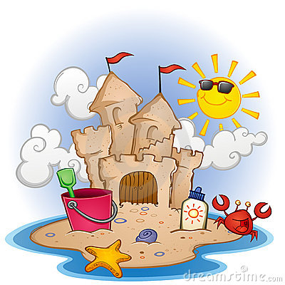 Sandcastle On The Beach Stock Image - Image: 22322431