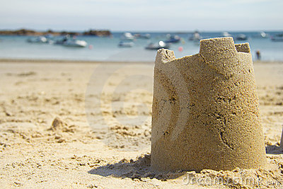 Sandcastle and harbour