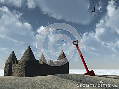 Sandcastle rydel