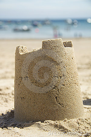 Sandcastle and sea
