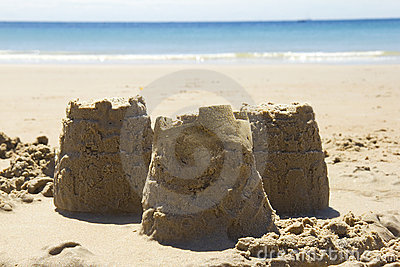 Sandcastles and beach