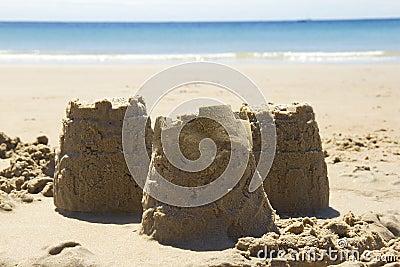 Sandcastles and beach