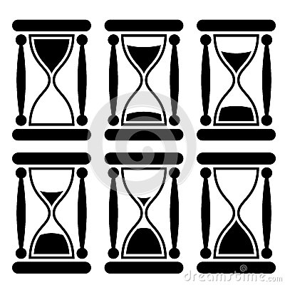 Sandglass icon  Vector Sandglass Icon Stock Photo - Image: 30335350