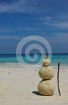 Sandman on the beach