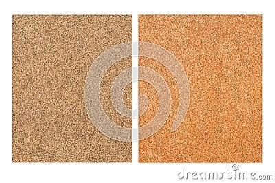 Sandpaper sheets