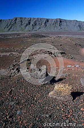 Sands plain landscape, Reunion Island