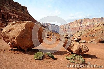 Sandstone Boulders beneath Vermilion Cliffs