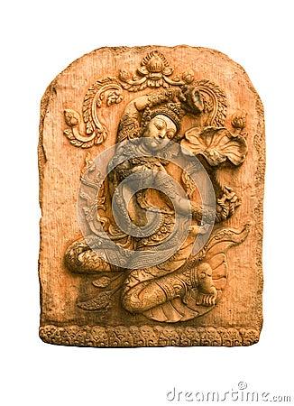 Sandstone carvings woman